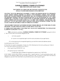 Free Medical Power Of Attorney Form Pdf by New York Power Of Attorney Form Free Templates In Pdf Word