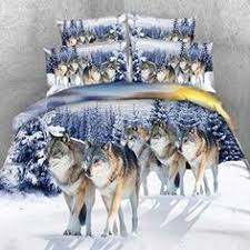 Wolf Bed Sets Unique Wolf Design Adults Bedding Set King Size