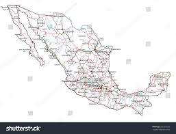 Mexico Road Map by Mexico Road Highway Map Vector Illustration Stock Vector 326352602