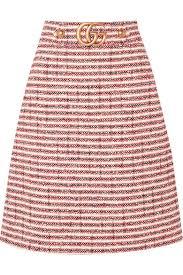 tweed skirt gucci embellished striped tweed skirt net a porter