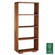 Wohnzimmer Regale Design Finebuy Bücherregal Massiv Holz Sheesham 85 X 190 Cm Wohnzimmer