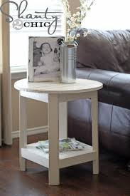 Wood Plans For Bedside Table by Ana White Benchright Round End Tables Diy Projects