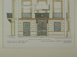 floor plans nyc floor plans u0026 elevation e f whitney house new york ny 1909