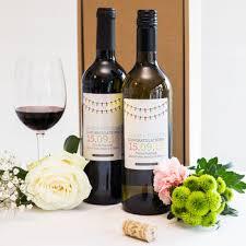 Wine Wedding Gift Personalised Wedding Wine Gift Twin Pack By Bottle Bazaar