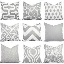 2 decorative throw pillow covers grey from castawaycovedecor