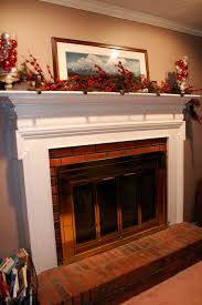 grass stains painting the brick fireplace surround
