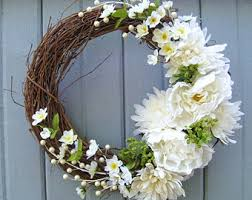 wedding wreath white wedding wreath etsy