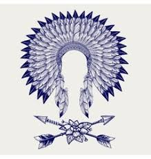 native american indian headdress royalty free vector image