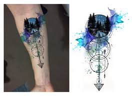 best 25 geometric watercolor tattoo ideas on pinterest