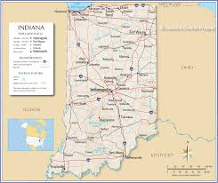 St Joseph River Map Map Of Indiana Indiana State Maps Usa Maps Of Indiana In Indiana