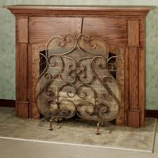 decorative fireplace screens wrought iron modern decorative