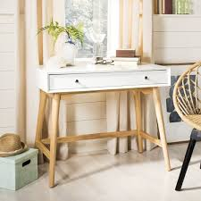 White Modern Desk Safavieh Isadora Mid Century White Modern Desk Free Shipping
