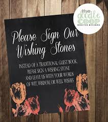 guest signing stones guestbook wishing stones tulip sign wedding ceremony printable