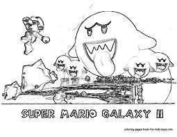 nengaku printables nintendi wii super mario galaxy coloring pages