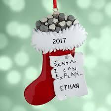 personalized coal stocking christmas ornament walmart com