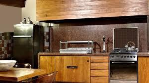 modern tropical house wooden utensil holder beige bevel stone tile