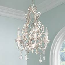 Chandelier Swag Lamp Leila White Clear Swag Plug In Chandelier 85013 Lamps Plus