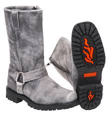 men u0027s vintage gray ride tecs harness boots w zipper bma14422zgy