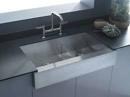 smart divide stainless steel sink kohler vault smart divide double basin apron front undermount sink