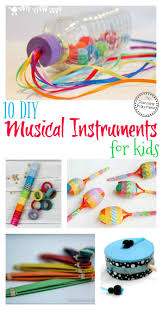 10 diy musical instruments for kids planning playtime