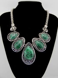 chunky necklace pendants images 2014 hot tibetan silver malachite tribal bib choker chunky jpg