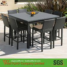 Outdoor Rattan Dining Chairs Cube Dining Set Outdoor Bar Set Bistro Chair Rattan Wicker