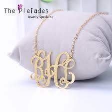 monogram necklace cheap popular big monogram necklace buy cheap big monogram necklace lots