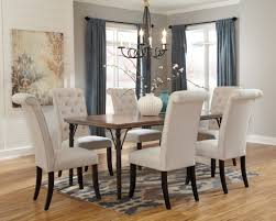 elegant ashley furniture dining room sets with nice chandelier
