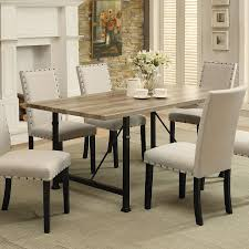 industrial dining room tables acme furniture old lake dining table hayneedle