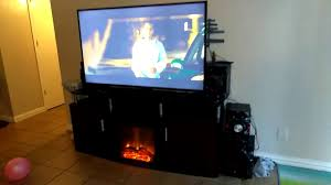 walmart target carson fireplace tv stand for tvs up to 70 u0027 youtube