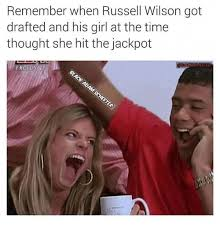 Russell Wilson Memes - remember when russell wilson got drafted and his girl at the time