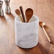 kitchen utensil canister marble kitchen utensil holder west elm