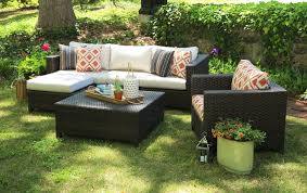 Biscayne Patio Furniture by Ae Outdoor Biscayne 5 Piece Deep Seating Group With Cushion