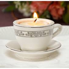 tea cup candles tea cup and saucer with tealight candle candle holder wedding