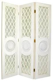 tranquility wooden shutter screen room divider in white the