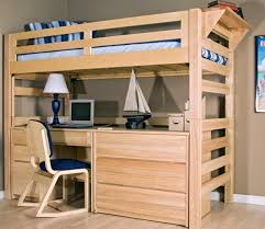 Wood Loft Bed With Desk Plans by Free Loft Bed With Desk Plans 17586