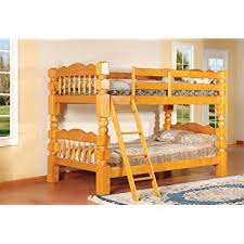 amazon com king u0027s brand b127h wood convertible bunk bed twin