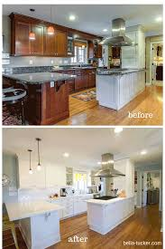 Paint Wood Kitchen Cabinets Painted Cabinets Nashville Tn Before And After Photos