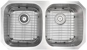 anzzi moore undermount stainless steel 32 in double bowl kitchen
