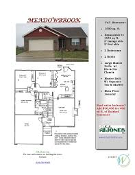 Traditional Floor Plan Ca Jones Inc Country Club Hills Floor Plans Traditional Line