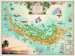 Sanibel Island Florida Map by Captiva And Sanibel Islands Wooden Jigsaw Puzzle Liberty