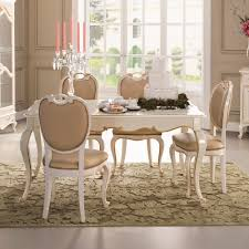 square louis reproduction white dining table set juliettes