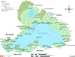 Map Of Great Lakes Lake Superior Maps Maps Of Lake Superior