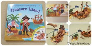 treasure island book report press out u0026 play treasure island et speaks from home