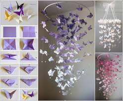 How To Make Chandelier At Home Make A Butterfly Chandelier Mobile For Your Room
