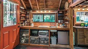 tiny house deck amazing tiny home with its own pirate treehouse is the ultimate