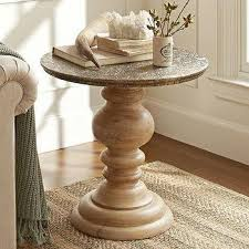 Pedestal Coffee Table Round Catchy Round Pedestal Accent Table Black And Silver Pedestal