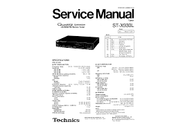 technics stx930l service manual immediate download