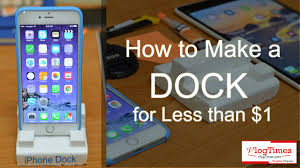 diy charging dock how to make a dock for smartphone for less than 1 diy youtube