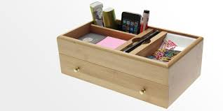 Desk Organizer With Drawer by Bamboo Office Products Woodquail